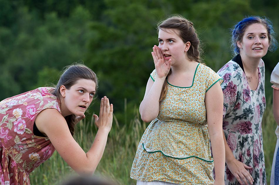"""Performance of """"Much Ado About Nothing"""" by the Chelsea Funnery Shakespeare Program in Chelsea, Vt., on July 22, 2016. (Photo by Geoff Hansen)"""