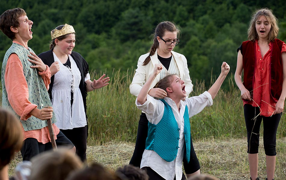 "Performance of ""Much Ado About Nothing"" by the Chelsea Funnery Shakespeare Program in Chelsea, Vt., on July 22, 2016. (Photo by Geoff Hansen)"